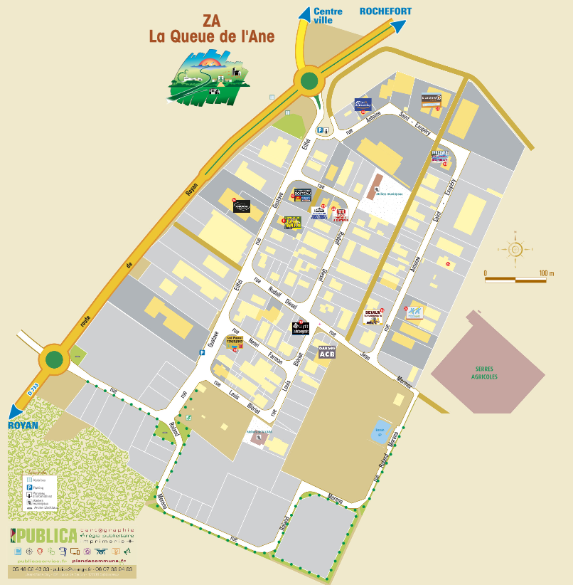 Plan de la commune - Saint-Sulpice-de-Royan